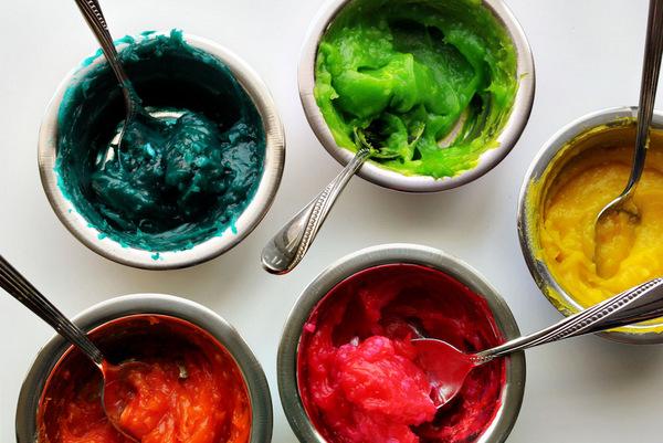 Как сделать съедобные краски