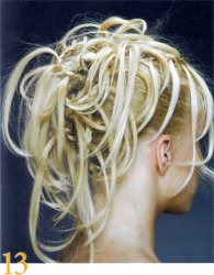 """Как собрать волосы в """"буйство косичек"""""""