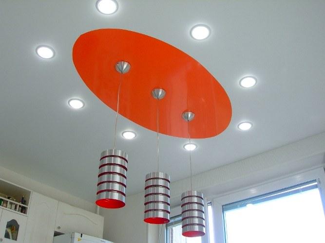 Светильники для натяжных потолков: как предпочесть