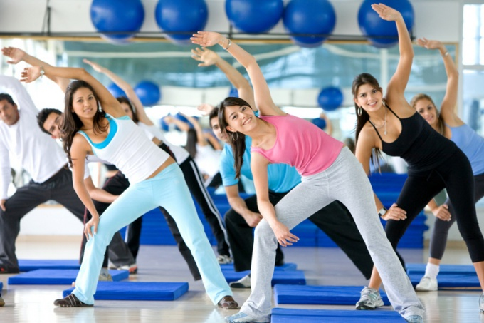 The types of group classes in the fitness club