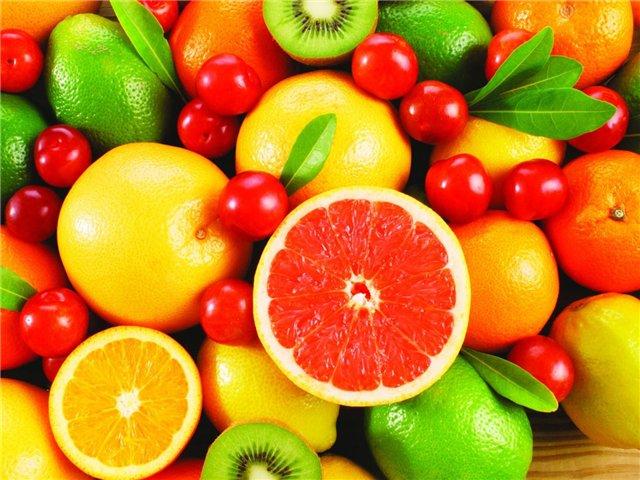 Нужно кушать побольше овощей и фруктов