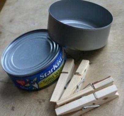 Как сделать декоративную вазу из прищепок