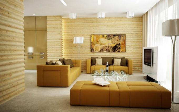Для поклонников эко-стиля - деревянные обои