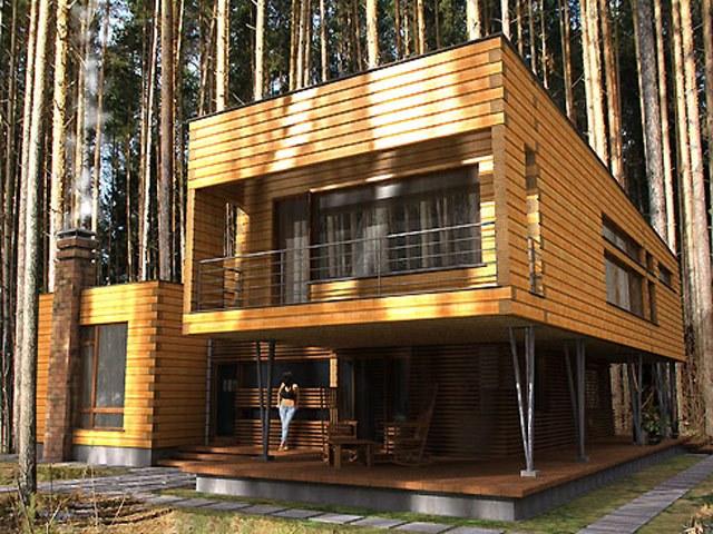 Современные проекты домов, коттеджей
