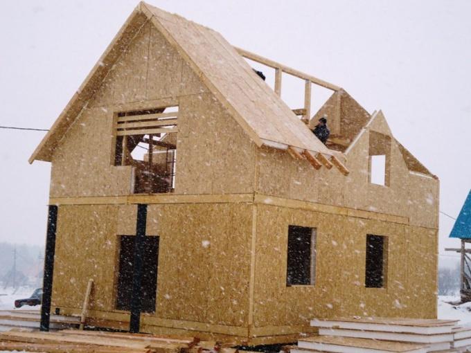 Каркасный дом из СИП панелей