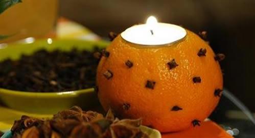 Апельсин-подсвечник