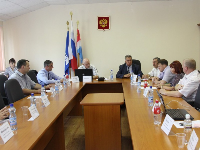 The meeting of the city Duma