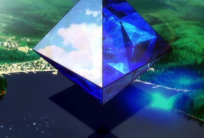 Модель октаэдра можно сделать из бумаги
