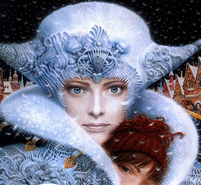 У Снежной королевы - правильные черты лица и прозрачные глаза