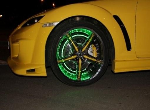Как сделать подсветку колес
