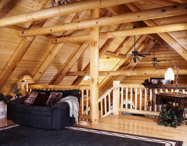 Оригинальные идеи интерьера деревянного дома