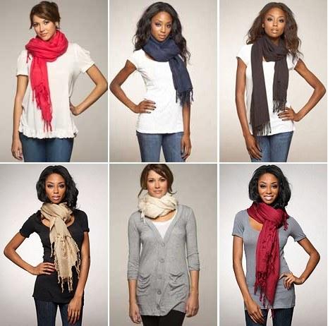 Как завязывать теплый шарф