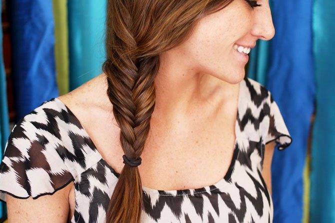 How to braid a pigtail fish tail