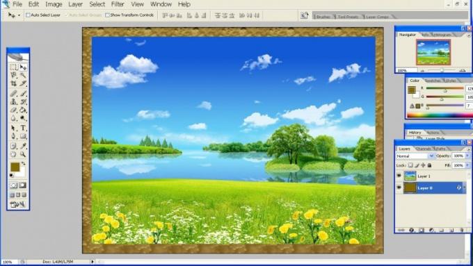 Как вставить фото в рамку в программе Фотошоп