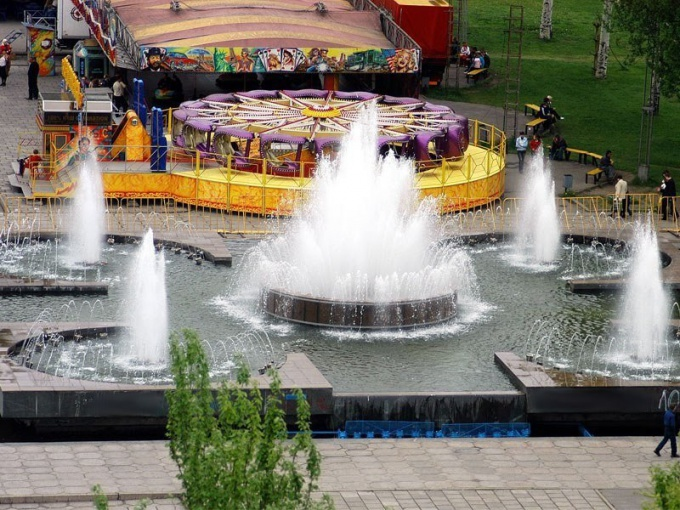 Запорожье славится и своими красивыми фонтанами