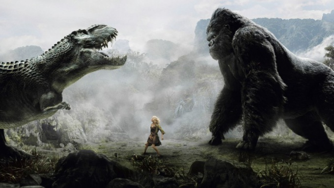"""As they filmed """"king Kong"""""""
