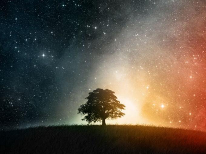 Какая звезда появляется первой