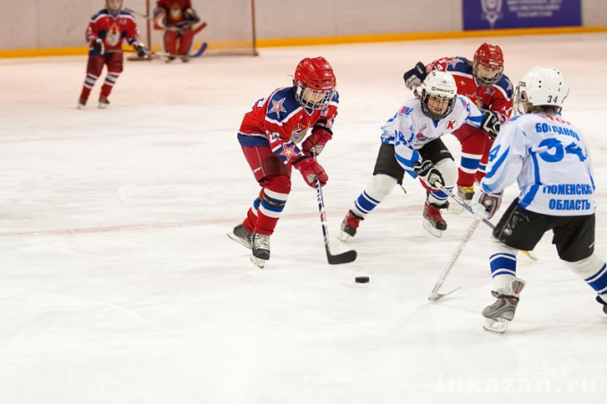 Young hockey players of CSKA - the future hope of Russian national team