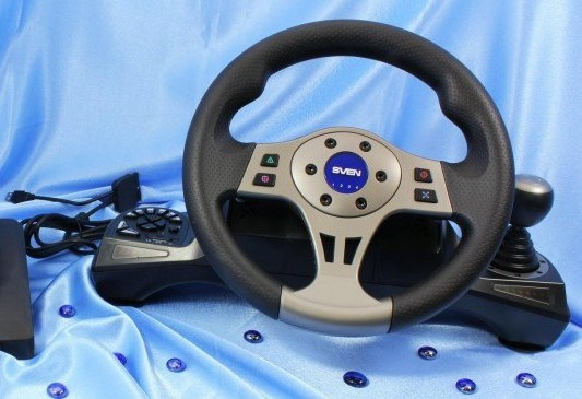 How to configure steering wheel and pedals