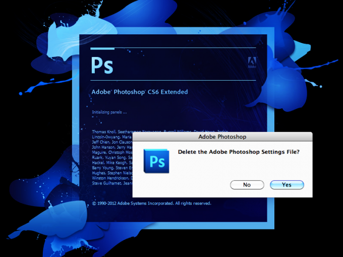 How to restore settings in Photoshop