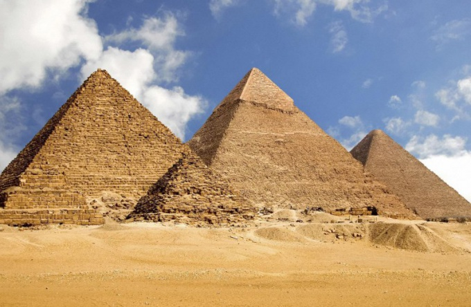 At the base of the pyramid is a polygon