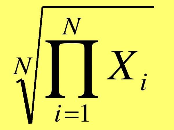 Как обнаружить среднее геометрическое чисел