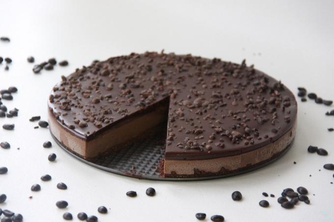 Шоколадный торт «Мокко» без выпечки!