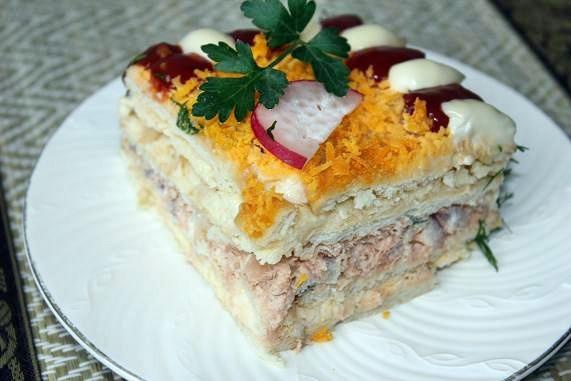Красивый и оригинальный салат