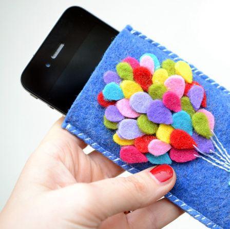 Как сделать чехол для телефона из фетра