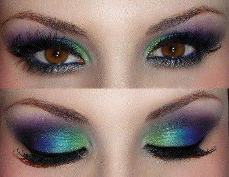 Варианты макияжа смоки-айс для карих глаз