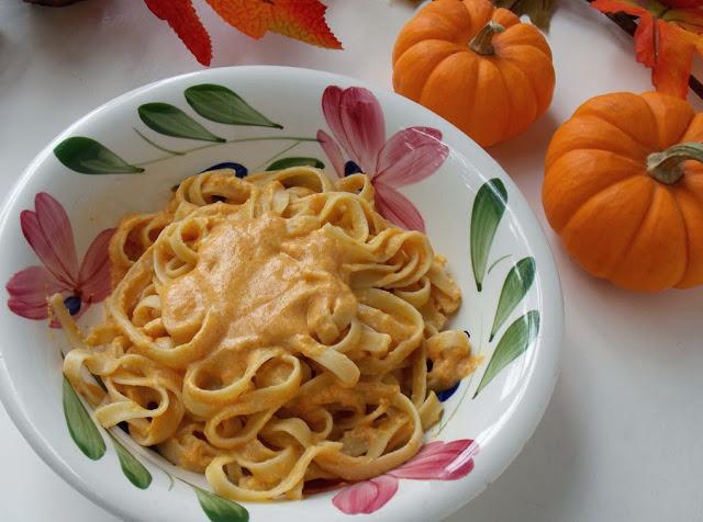 Постное блюдо - паста с тыквой