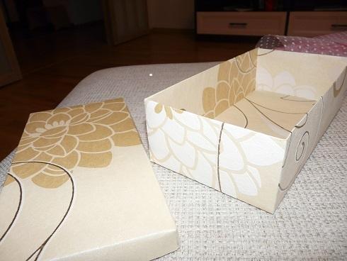 Подарочные коробки из обоев