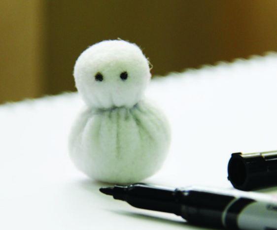 Как сделать снеговиков из ткани