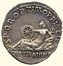 Монета, посвященная либо строительству, либо окончанию строительства  дороги Траяна