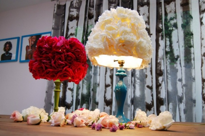 Как сделать лампы из цветов