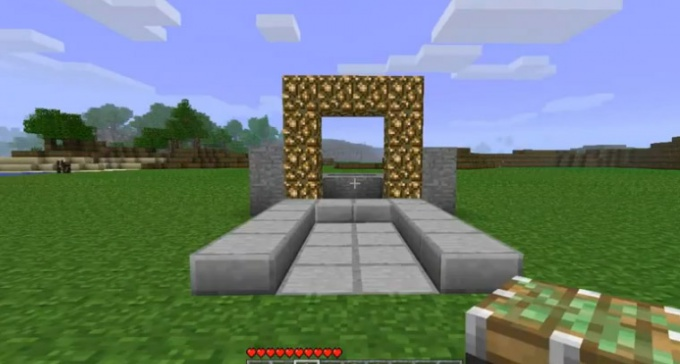 to make a portal to heaven in minecraft