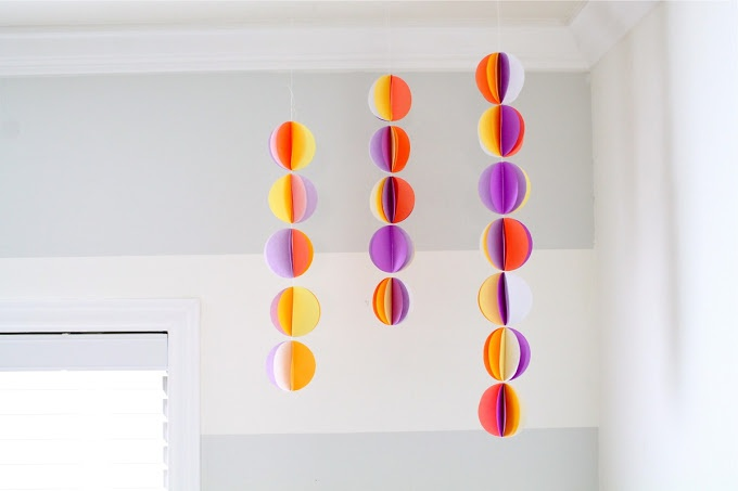 Как сделать гирлянду из бумаги в форме шариков