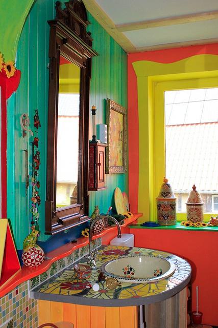 цветная ванная