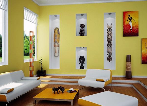 Первобытность в интерьере, или Африка в гостиной