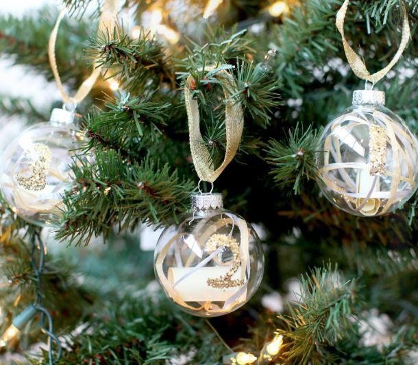 Как сделать новогодние шары с посланиями