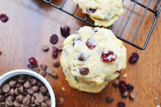 Как испечь клюквенное печенье