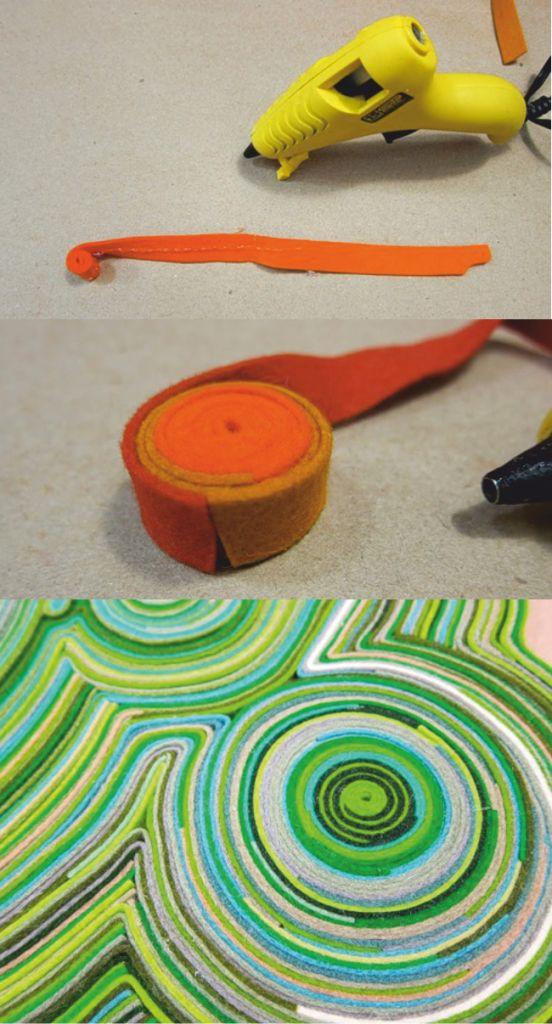 """Увеличивать поверхность коврика нужно , """"приращивая"""" новые круги и овалы"""