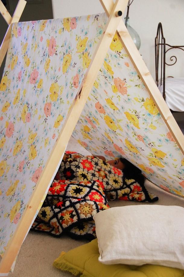 Палатка из старой простыни