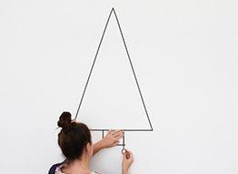 Как сделать красивую ёлочку на стене