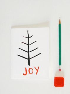 Как нарисовать простую новогоднюю открытку