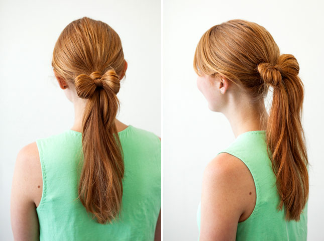 Прически для девочки с бантом из волос