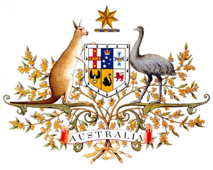 Герб Австралии даровали британские монархи