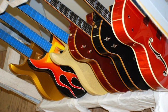 The variety of guitars