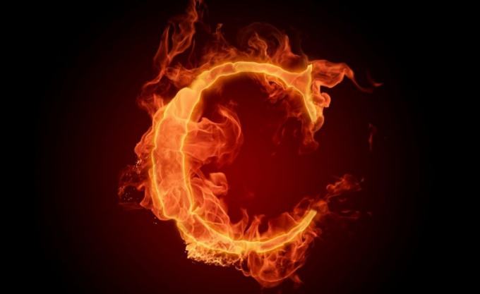 "The letter ""C"" can be done in the form of flame or a snake"