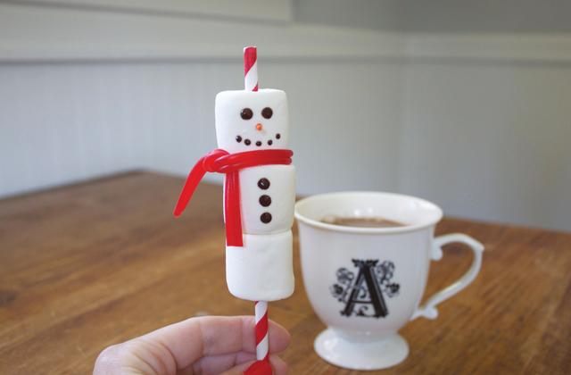 Как сделать сладкого снеговика на десерт